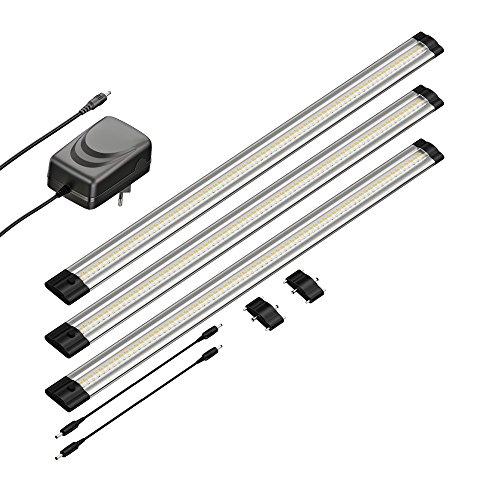 parlat LED Unterbau-Leuchte SIRIS, flach, je 50cm, 400lm, warm-weiß, 3er Set