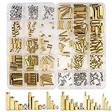 Eagles Abstandshalter aus Messing, 120 Stück M3 männlich, sechseckige Gewindestange mit Schrauben und Mutter für Mainboard PCB oder DIY