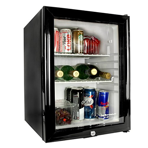 51dFeRdGJ2L. SS500  - Frostbite Glass Door Mini Bar 35ltr - Counter Top Fridge with Lock, Suitable for Milk Overnight