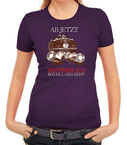 Junggesellenabschieds JGA Hochzeit Damen T-Shirt Just Married - Jetzt bestimme ich Lila