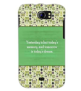 PrintDhaba Quote D-5722 Back Case Cover for MICROMAX A110 CANVAS 2 (Multi-Coloured)