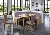 Beauty.Scouts Eckbankgruppe Classic Flamingo Buche Natur Dekor Komplettset Flamingo 4teilig Tisch Truheneckbank 2 Stühle Küche Esszimmer Landhaus
