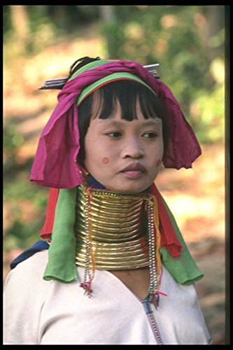 481066 Padaung Girl Thailand A4 Photo Poster Print 10x8