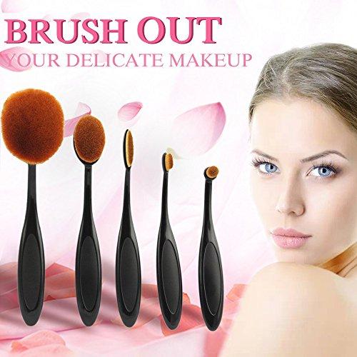 mmlove-belleza-base-de-maquillaje-cepillos-cepillo-de-dientes-flojos-powder-brush-5pcss-negro