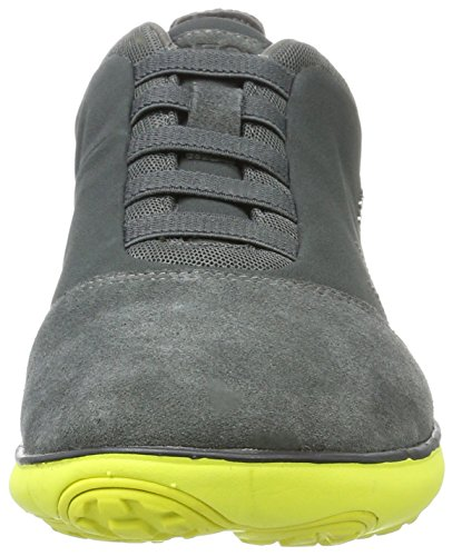 Geox U Nebula B, Sneakers Basses Homme Gris (Anthracite/lime)