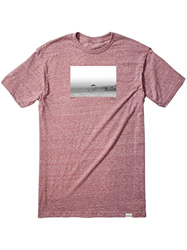 Herren T-Shirt Nixon Dorsal T-Shirt burgundy heather