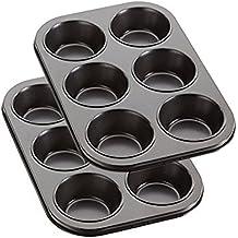 Du - Moule à Cupcakes - Plaque à Muffins - Acier au Carbone - Revêtement Antiadhésif - Set 2