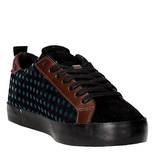 D.a.t.e. HILL LOW Sneakers Femme Noir/Marron