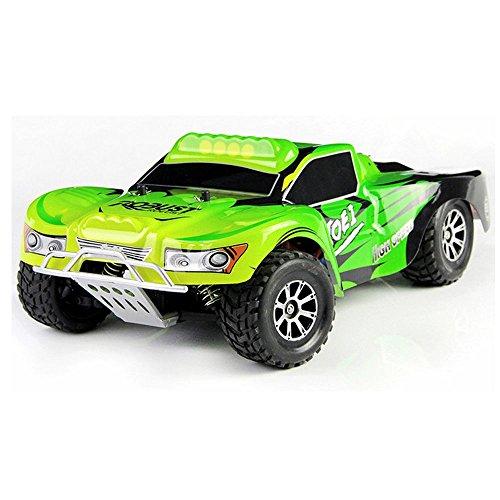 efaso WLToys A969 2,4 GHz Short Course Truck 1:18 1/18 RC Auto - bis zu 50 km/h schnell - Farbe: grün/schwarz*