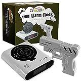 Creatov Zielwecker mit Pistole, Infrarot-Laser und realistischen Soundeffekten, Weiß