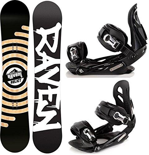 Snowboard Set: Snowboard Raven Relict + Bindung Raven s250 Black M/L