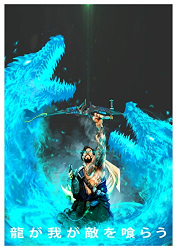 Poster Hanzo Overwatch (B) - Formato A3 (42x30 cm)