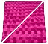 Strictly Briks - Rollbare Bauplatten-Matten - dreieckig - 2 Stück - Rosa
