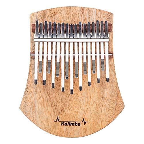 JIASHU Kalimba 17 Tasten Daumen Klavier, Kampfer Holz Musikinstrument, Musikinstrument Geschenke für Kinder Erwachsene Anfänger mit Studienanweisung und Stimmhammer