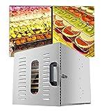 Disidratatore per alimenti, temperatura regolabile 30-90 ℃ e essiccatore multifunzione per le impostazioni personalizzate per la conservazione e l'essiccazione di frutta fresca 12-Layer Grid Househol