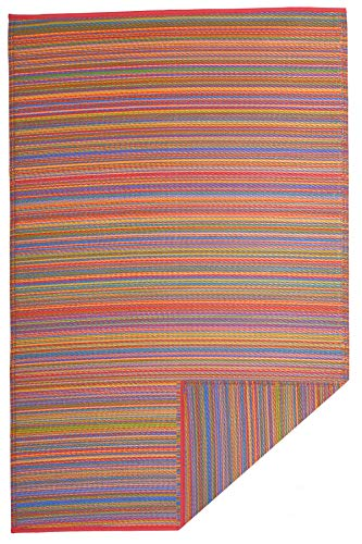 FAB HAB - Cancun - Alfombra para Exterior e Interior - Multicolor - 180 cm x 270 cm