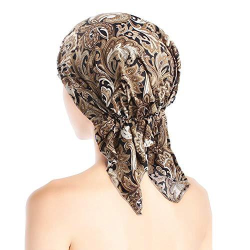 ZYCC Frauen Bandana Schal Turban Hut, Beanie Turban Kopfbedeckung Chemo Hat Cancer Hat Skull Cap (Farbe 3)