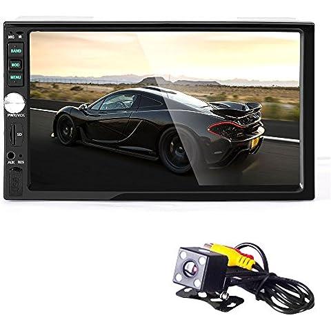 Koly Estéreo Bluetooth Car Audio en el tablero de receptor de entrada Aux Reproductor MP5 SD / USB+