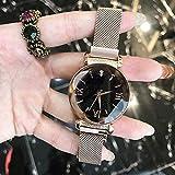 CHCHIINCHCH UhrenDamen-Mode-Stern Uhr-Wasserdichte Luxusdiamant-Studenten-Uhr, Rose Gold