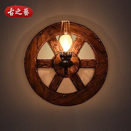 BESPD Kreative Retro Industrial Wind loft net Massivholz boot Holz- ruder Wandleuchte Schlafzimmer Nachttischlampe Korridor