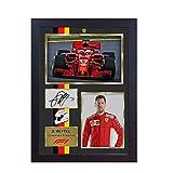 New 2018?Sebastian Vettel Ferrari Formel 1?SIGNED Autograph Foto, gerahmt