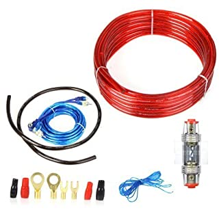 KKmoon Andoer 1500W Car Radio/Subwoofer/Amplifier Installation Kit 8-Gauge Power Cable and 60A Fuse