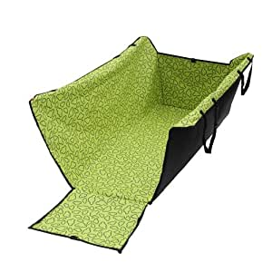 Fuloon Green Washable Double Layer Waterproof Pet Dog Cat Safe Safety Travel Hammock Car Bed Seat Cover Mat Blanket ,Adjustable Locking Seat Clasps For Tight Fit, Seat Fasteners Come With Snap Buckles in Size of 126*40*55 CM