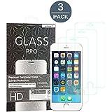 Abestbox® Protector de Pantalla iPhone 8 7 6 6S Cristal Templado de Cristal Protector, Espesor 0.26mm 9H Premium HD (3 Paquetes)