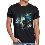 CottonCloud Power of Vegeta Herren T-Shirt dragon Z goku vegeta roshi ball, Größe:M;Farbe:Schwarz