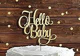 Cotton Candy Co Hello Baby Gold Glitter Tortenaufsatz-NEU-Boy Girl Willkommen zu Hause