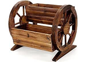 Roots & Shoots 2-Tier Burntwood Cartwheel Planter