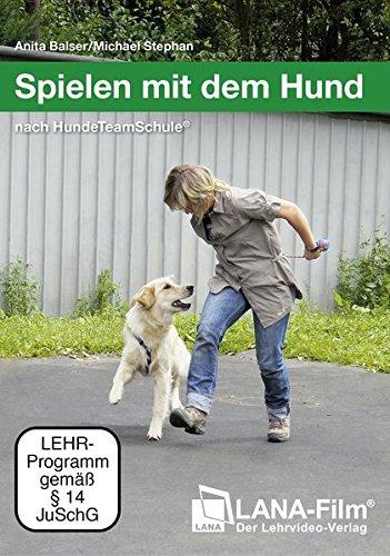 Spielen mit dem Hund nach