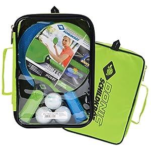 Donic-Schildkröt Outdoor Tischtennis-Set Alltec Hobby (2 Kunststoffschläger, Wetterfest Robust abwaschbar, 3 Bälle, Wertige Tasche), 788648