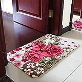 lili Stuoie Saugfüße für Badezimmertüren, Foyer WC Slipeinlage, Badematte (Farbe : B, Größe : 100 x 200 cm) 45x70cm B