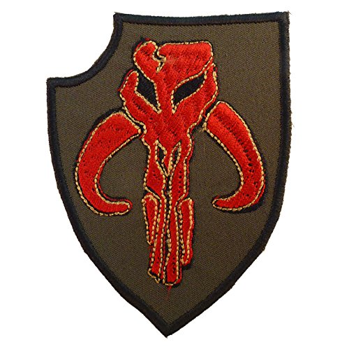 Olive Drab OD Boba Fett Star Wars Mandalorian Bounty Hunter Embroidered Sew Iron onPatch (Boba Fett Insignia)