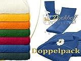 Doppelpack zum Sparpreis - Schonbezüge für Gartenstuhl & Gartenliege aus dem Hause Dyckhoff - erhältlich in 6 sommerlichen Farben - mit Kapuze für besseren Halt, Gartenstuhl (60 x 130 cm), blau