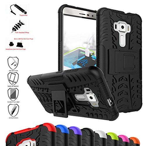 Mama Mouth andere Smart Telefon Ständer Series Schutzhülle für Asus ZenFone 3ze552kl, schwarz (Verizon-telefon-zeit)