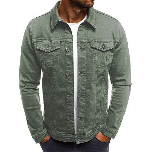 Preisvergleich Produktbild UFACE Männer T-Shirt Slim Fit V-Ausschnitt Langarm Muscle Cotton Casual Tops Bluse Shirts (,  Armee)