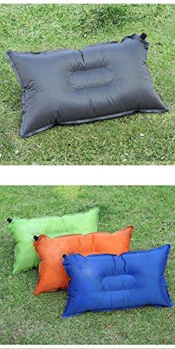 Ultralight aufblasen Reise Camping Kissen komprimierbare kompakte aufblasbares bequeme ergonomische Kissen für Nacken Lendenwirbelsäule Unterstützung und eine gute Nacht schlafen , Orange Gebläse Für Boote