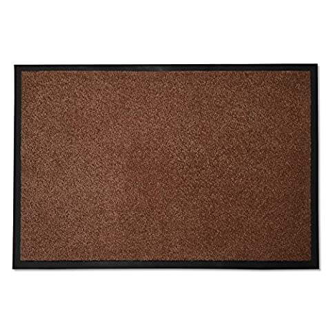 casa pura® Dirt Trapper Entrance Mat | Non Slip | 8 Sizes Available | Brown - 40x60cm