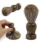 sourcingmap® uomo impugnatura in resina pennello barba crine cavallo Barbiere Salone