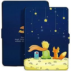 Ayotu Étui coloré pour Kindle Paperwhite, Smart Wake/Sleep Convient aux Versions 2012, 2013, 2015 et 2016 (incompatibles avec la 10e génération, modèle 2018),Le garçon et Le Renard