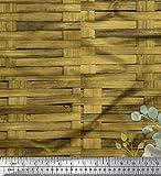 Soimoi Grun Baumwolle Ente Stoff überprüfen, Blätter und