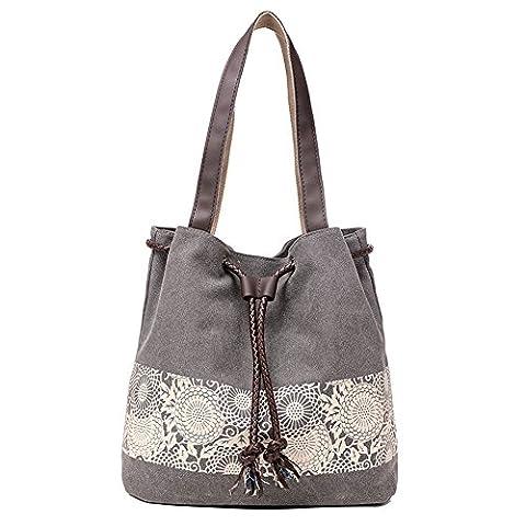 HTDirect Fashion Cotton Canvas Retro Shoulder Bag Women Handbag Girls