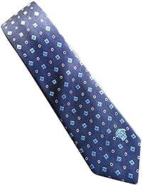 Versace Navy Diamond Patterned 100% Silk Men's Tie