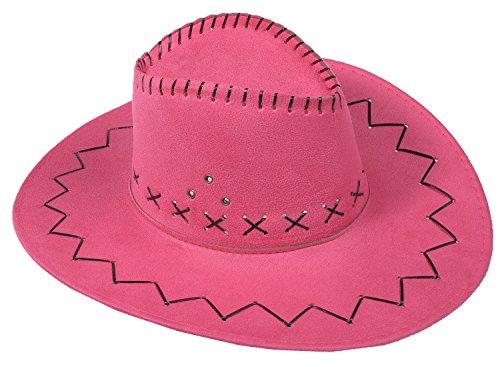 Cowboyhut Westernhut Cowgirl australien Texas Cowboy Hut Hüte Western (One size, Pink)