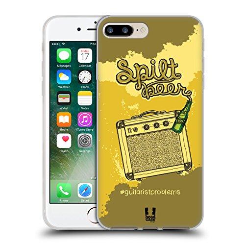 Head Case Designs Plettro Problemi Di Chitarra Cover Morbida In Gel Per Apple iPhone 7 / iPhone 8 Birra E Amplificatore