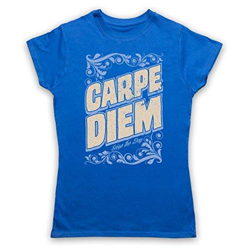 Carpe Diem Seize The Day Damen T-Shirt Blau