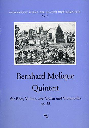 QUINTETT OP 35 - arrangiert für Querflöte - Violine - zwei Violen - Violoncello [Noten / Sheetmusic] Komponist: MOLIQUE WILHELM BERNHARD