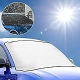 Oziral Frostabdeckung Frontscheibe Abdeckung Eisschutz, Jahreszeit Generisch Zwei Funktionen Anti-Frost Auto Abdeckungen Winterabdeckung Eisschutzfolie
